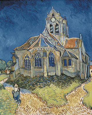 The Church at Auvers Fine Art Print by Vincent Van Gogh