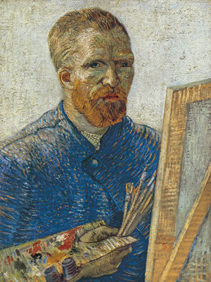 Self Portrait in Front of Easel Fine Art Print by Vincent Van Gogh