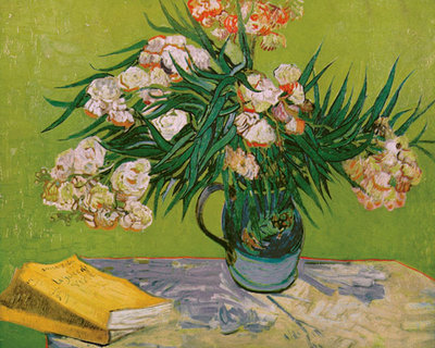 Still Life with Oleander Fine Art Print by Vincent Van Gogh