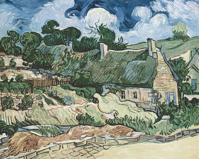 Shelters in Cordeville Fine Art Print by Vincent Van Gogh