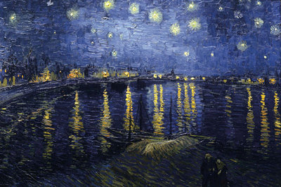 Starry Night Over the Rhone Poster Art Print by Vincent Van Gogh