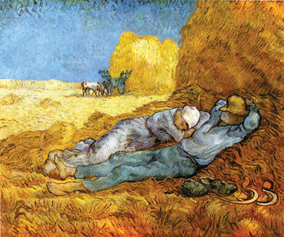 La Meridienne Fine Art Print by Vincent Van Gogh