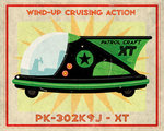 Patrol Craft XT Box Art Tin Toy Fine Art Print by Monster Riot