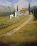 Tuscany Vineyard Fine Art Print by Tony Saladino
