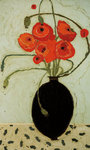 Swirling Poppies Fine Art Print by Gustav Klimt