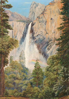 196. Rainbow over the Bridal Veil Fall, Yosemite, California Fine Art Print by Marianne North