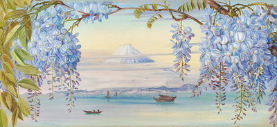 658. Mount Fuji Fine Art Print by Marianne North
