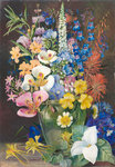 203. Group of Californian Wild Flowers. Poster Art Print by Margaret Ann Eden