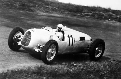 1936 Eifelrennen. Nurburgring, Germany. 14 June 1936. Ernst von Delius, Auto Union C, 9th position, action. Fine Art Print by Anonymous