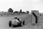 1952 British Grand Prix. Silverstone, Great Britain. 19 July 1952. Piero Taruffi (Ferrari 500), 2nd position, at Abbey curve. Fine Art Print by Anonymous