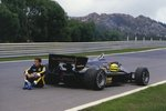 1985 Porugese GP, Estoril, Ayrton Senna, Lotus 97T-Renault, after warm-up Wall Art & Canvas Prints by Anonymous