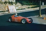 1955 Monaco Grand Prix. Monte Carlo, Monaco. 19-22 May 1955. Louis Chiron (Lancia D50) 6th position, at Station Hairpin. Fine Art Print by Anonymous