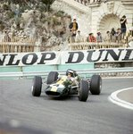 1966 Monaco GP, Monte Carlo, Jim Clark, Lotus 33-Climax at the Station Hairpin Fine Art Print by Anonymous