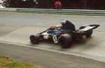1973 German Grand Prix. Nurburgring, Germany. 3-5 August 1973. Jackie Stewart (Tyrrell 006 Ford) 1st position. Fine Art Print by Anonymous