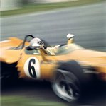 1969 British Grand Prix. Silverstone, Great Britain. 19 July 1969. Bruce McLaren, McLaren M7C-Ford Cosworth, 3rd position Fine Art Print by Anonymous