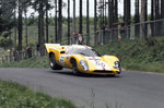 1969 Nurburgring 1000kms. Nurburgring, Germany. 1st June 1969. Jo Bonnier/Herbert Muller, Lola T70 Mk3B, retired, action. Fine Art Print by Anonymous