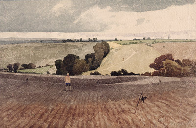 A Ploughed Field, c.1808 by John Sell Cotman - print