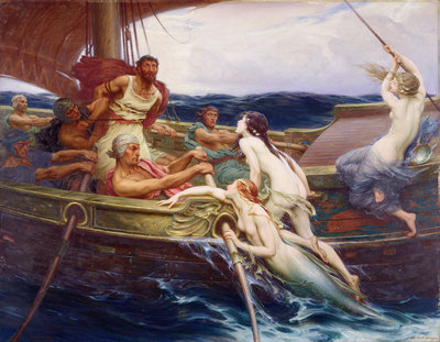 Ulysses and the Sirens, 1910 by Herbert James Draper - print