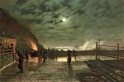 In Peril by John Atkinson Grimshaw - print