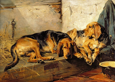 Lazy Moments, 1878 by John Sargent Noble - print