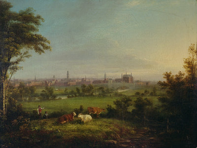 Leeds from the Meadows, c.1825 by Joseph Rhodes - print