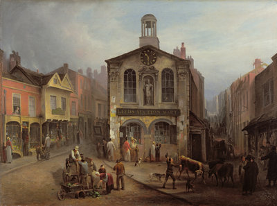 The Old Moot Hall, Leeds, c.1825 by Joseph Rhodes - print