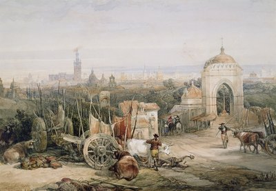 Seville from the Cruz del Campo, 1835 by David Roberts - print