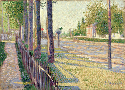 The Railway Junction at Bois-Colombes, or La Route Pontoise, 1886 by Paul Signac - print