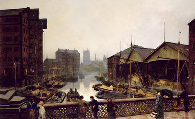 Leeds Bridge, 1880 by John Atkinson Grimshaw - print