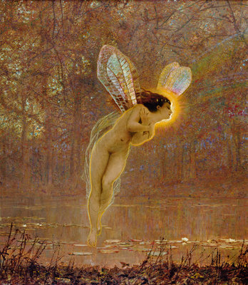 Iris, detail of the fairy, 1886 by John Atkinson Grimshaw - print