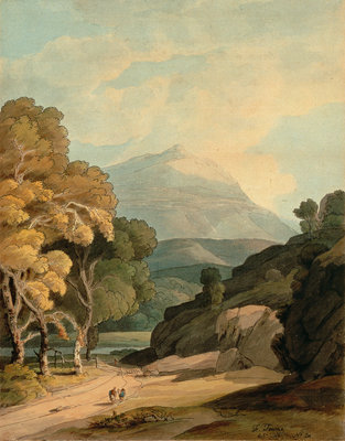 Near Maentwrog, North Wales Fine Art Print by Francis Towne
