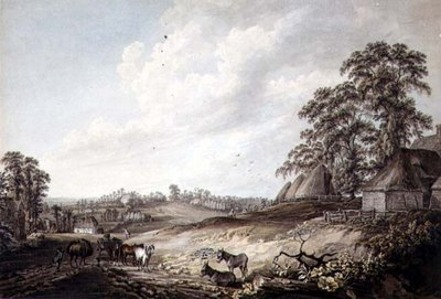 A View in Suffolk, 1776 by Thomas Hearne - print