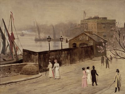 Lindsey Wharf by Walter Greaves - print