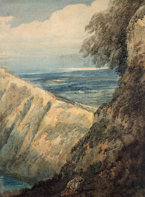 Coast of Dorset, near Lulworth Cove, 1797 by Thomas Girtin - print
