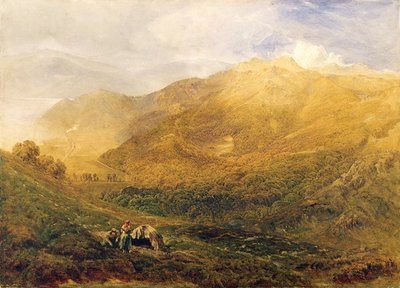 Arthog, near Barmouth Wall Art & Canvas Prints by Bernard Walter Evans