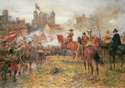 Cromwell at the Storming of Basing House, 1900 by Ernest Crofts - print