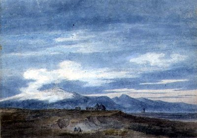 Shepherd's Hut on the Border of the Pontine Marshes, between Valetri and Terracina by John Robert Cozens - print