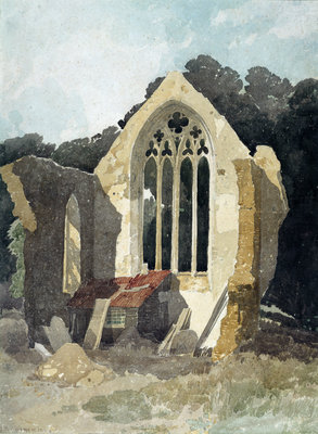 The Refectory at Walsingham Priory by John Sell Cotman - print