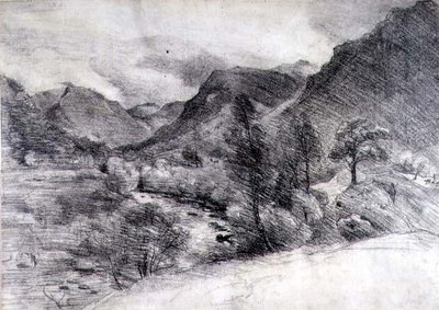Borrowdale, Morning, c.1806 by John Constable - print