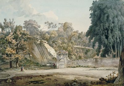 Park Gateway and Fountain by William Pars - print