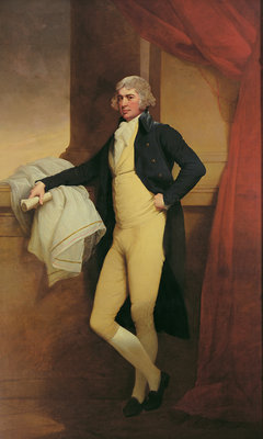 Portrait of Samuel Oldknow, c.1790-2 Wall Art & Canvas Prints by Joseph Wright of Derby