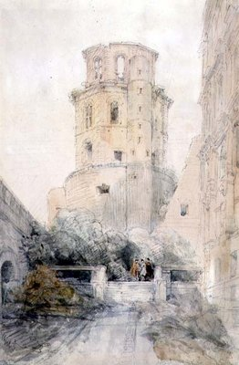 Tower at Heidelberg, c.1830 by David Roberts - print