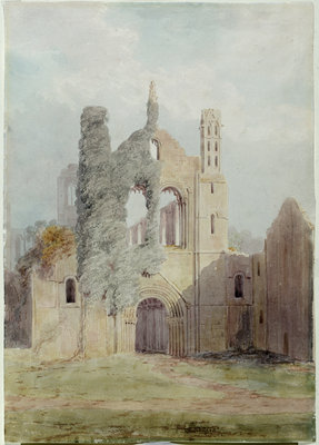 Kirkstall Abbey from the West Front by Joseph Rhodes - print