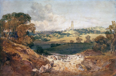 View of Fonthill from a Stone Quarry, c.1799 by Joseph Mallord William Turner - print