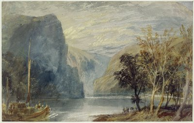 The Lorelei Rock, c.1817 by Joseph Mallord William Turner - print