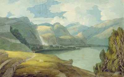 Derwentwater Looking South, 1786 Wall Art & Canvas Prints by Francis Towne
