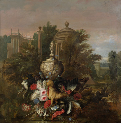 Dead Game and Flowers, 1708 Fine Art Print by Pieter Casteels