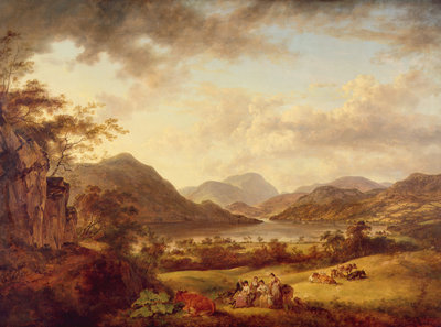 Ullswater from Gowbarrow, 1801 by Julius Caesar Ibbetson - print