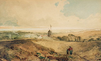 A View from Welton, Yorkshire, 1804 by John Sell Cotman - print