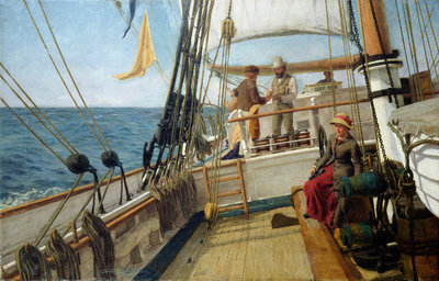 A Conversation at Sea, 1885 by Allan J. Hook - print